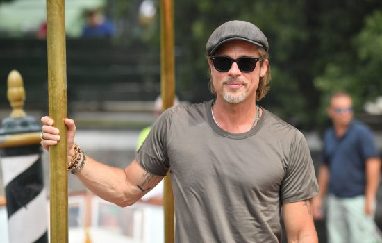 Photos of Brad Pitt Arriving for the Venice Film Festival