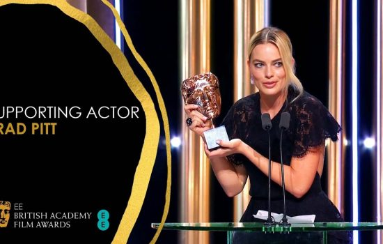Brad Pitt Wins BAFTA Supporting Actor Award!